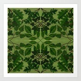 Wildwoods Woodland Tile Art Print