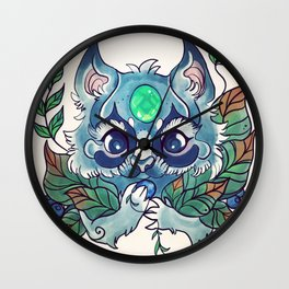 Munching raccoon Wall Clock