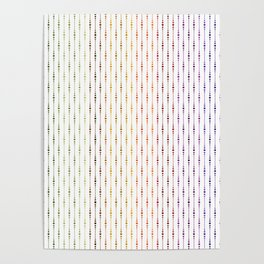 Colorful & Light Jewel Tone Bead Pattern Poster