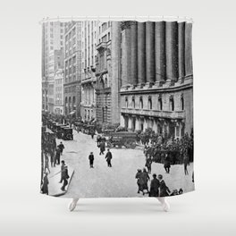 Vintage Wall Street NYC Photograph (1921) Shower Curtain