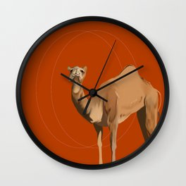 Camel Moon Wall Clock