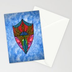 Lotus Shield Stationery Cards