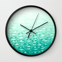 Colorful liquid droplets background wallpaper Wall Clock