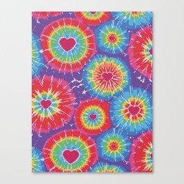 Love Tye Dye Canvas Print