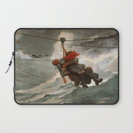The Life Line by Winslow Homer, 1884 Laptop Sleeve