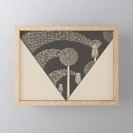 Art Nouveau Dandelion Seeds Framed Mini Art Print