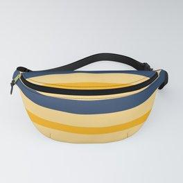 Yellow  blue  stripes  horizontal Fanny Pack