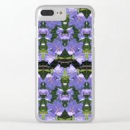 Purple flowers of Seattle Clear iPhone Case