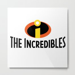 The Incredible Logo Metal Print