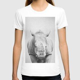 Rhino 2 - Black & White T-shirt