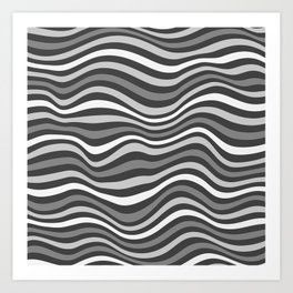 GrayWaving Art Print