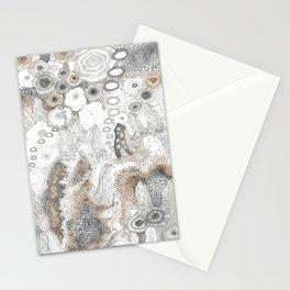 """Gray"" illustration Stationery Cards"