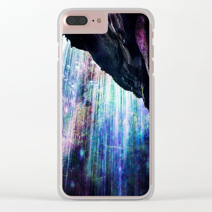 Enchanted Waterfall. Clear iPhone Case