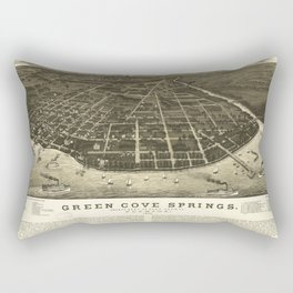Aerial View of Green Cove Springs, Florida (1885) Rectangular Pillow