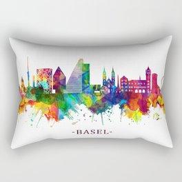 Basel Switzerland Skyline Rectangular Pillow