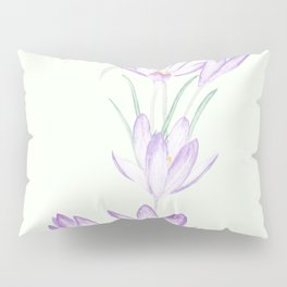 purple botanical crocus flowers Pillow Sham