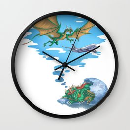 If Dogs Chase Cars... Wall Clock