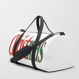 Christmas Holiday Text Duffle Bag