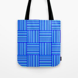 Havana Cabana - Blue Weave Stripe Tote Bag