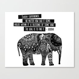 Blessing Buddha Quote Canvas Print