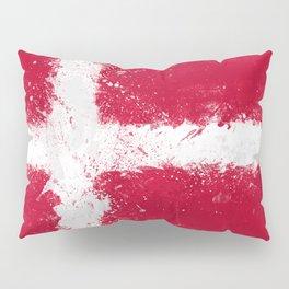 Denmark Flag Grunge Pillow Sham