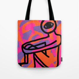 Sitting Fire Tote Bag