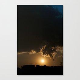 Communicative pollution Canvas Print