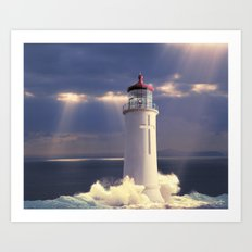 Lighthouse Temple Art Print