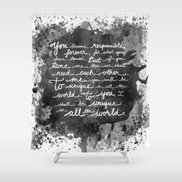 If We Tame Each Other Shower Curtain