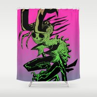 demon Shower Curtains featuring DEMON by ASHES