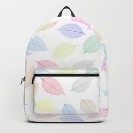 Seamless  pattern with skeleton leaves.. Endless texture Backpack