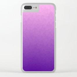 Colored Stalactites Detail Clear iPhone Case