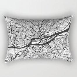 Nantes Map Gray Rectangular Pillow