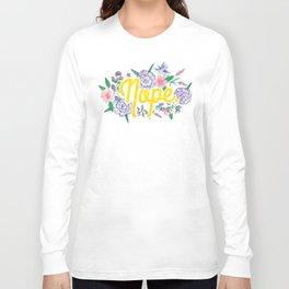 Profanity Flowers #3: NOPE Long Sleeve T-shirt