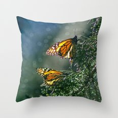 Monarch Moment Throw Pillow