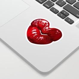 Heart Shaped Lips Sticker