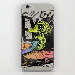 Hey you, let's fly! - Said the whale iPhone Skin