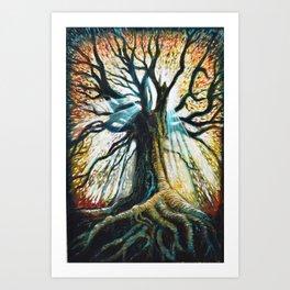 Glory Oak Art Print