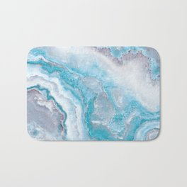Ocean Foam Mermaid Marble Bath Mat