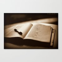 poetry Canvas Prints featuring Poetry by Reggie Thomas Photos