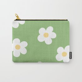 Retro 60's Flower Power Print Carry-All Pouch
