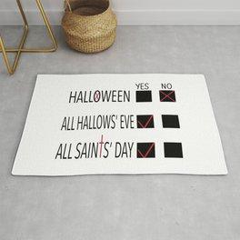 Anti-Halloween, All Hallows' Eve, All Saints' Day Christian Design Rug