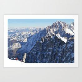 Mont Blanc, Chamonix. Art Print