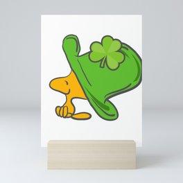 Leprechaun Hat Clover Saint Patrick's Day Lacrosse Ireland Gift Mini Art Print
