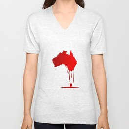 Australia Melting Down Unisex V-Neck