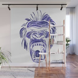 GORILLA KING KONG - Blue Wall Mural