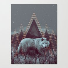In Wildness | Wolf Canvas Print