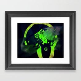 Green At Midnight Framed Art Print