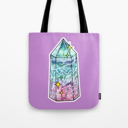 Fluorite Crystal Point Tote Bag