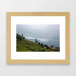 vineyards of switzerland Framed Art Print